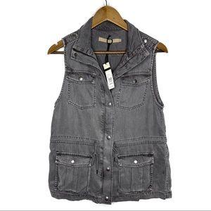 Max Jeans NWT Gray Safari Vest